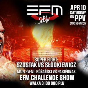 Walka o 100 000 PLN! Federacja MMA powraca w nowej formule! EFM to już przeszłość. Poznaj EFM SHOW